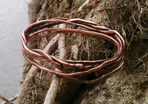Custom Made 12-Gauge Copper Branches Bangle