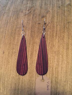 Custom Made Custom Wood Earrings!