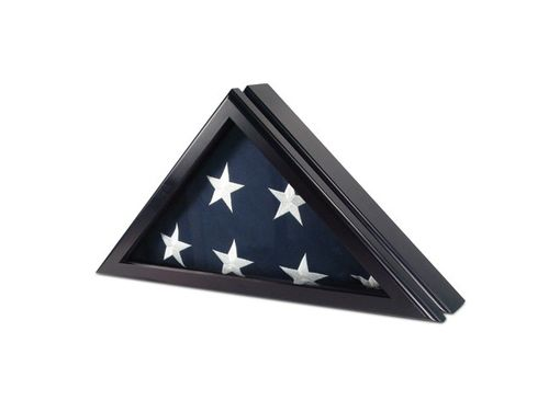 Custom Made Officer Case For 5 X 9.5 Flag In Black Cherry