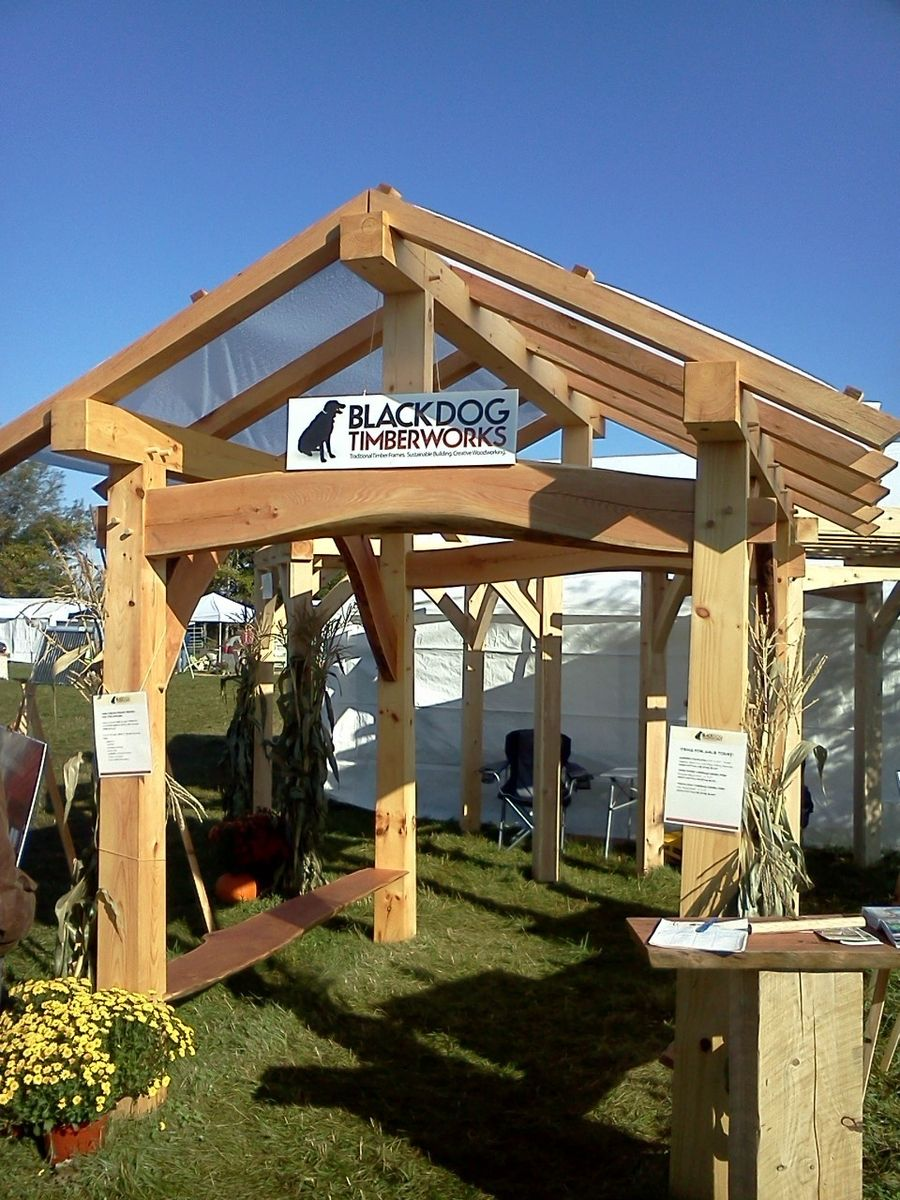 Hand Crafted Timber Frame Pavilion By Black Dog