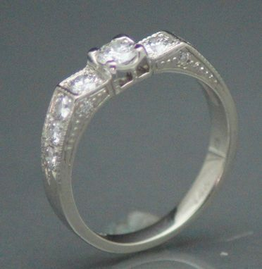 Custom Made Redesign Of Customers Diamonds In 14kt White Gold