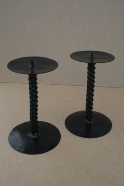 Custom Made Wrought Iron Candle Sticks