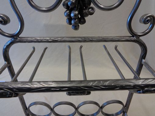 Custom Made 4 Bottle / 6 Glass Wine Rack