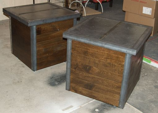 Custom Made Rustic Industrial  End Tables / Night Stands
