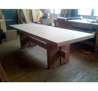 Custom Made Solid Bamboo Dining Table