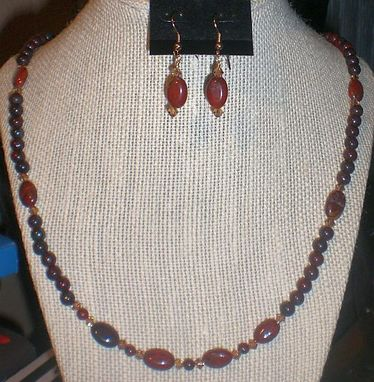 Custom Made Brecciated Jasper Gemstone Necklace Set