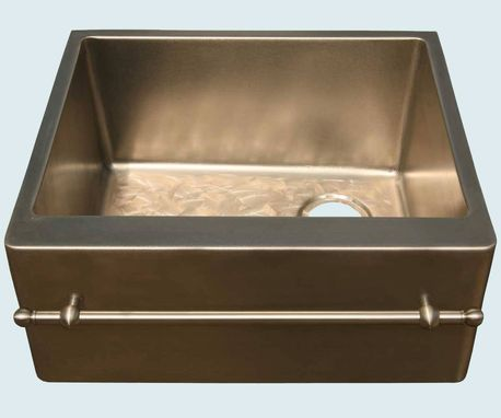 Custom Made Bronze Sink With Towel Bar & Butterfly Bottom