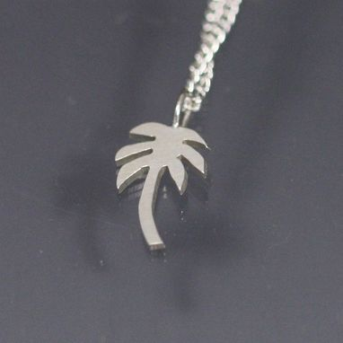 "Custom Made Palm Tree Necklace (18"") Sterling Silver"