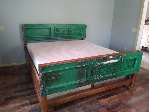 Custom Made Reclaimed Storage Bed
