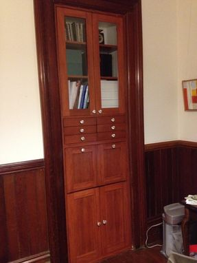 Custom Made Built-In Office Cabinet