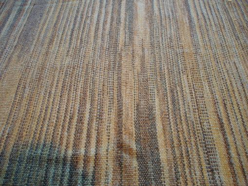 Custom Made Fall Goldenrod Cotton Hand Woven Fabric