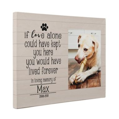 Custom Made Dog Memorial Canvas Wall Art