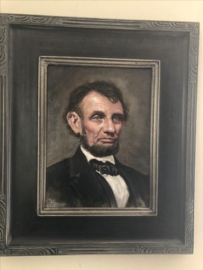 Custom Made Original Oil Painting Of President Lincoln