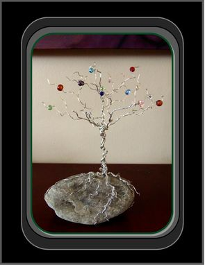 Custom Made Family Tree, Wire Family Tree, Tree Of Life, Birthstone Tree, Home Decor, Birthstone Tree Of Life
