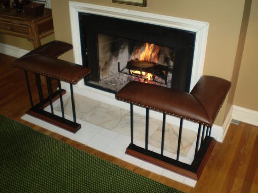 Custom Made Old English Fireplace Bench - 'Corner Set' Model