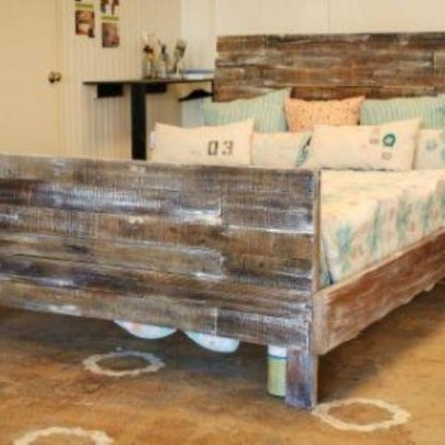 Custom Made Reclaimed Pallet Wood Bed By Sb Designs