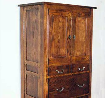 Hand Made Solid Oak Armoire by Blue Bench Woodworking ...