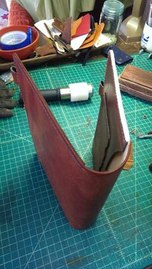 Custom Made Extra Large Moleskin Cover In Horween Leather