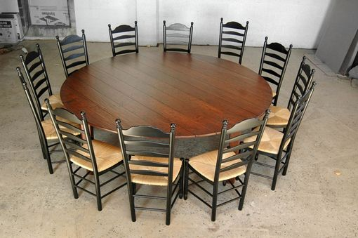 Custom Made 8' Round Cherry Table