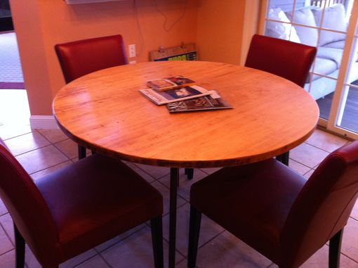 Custom Made Round Kitchen Butcher Block Table