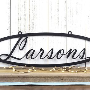 Custom Metal Sign Name Last Family