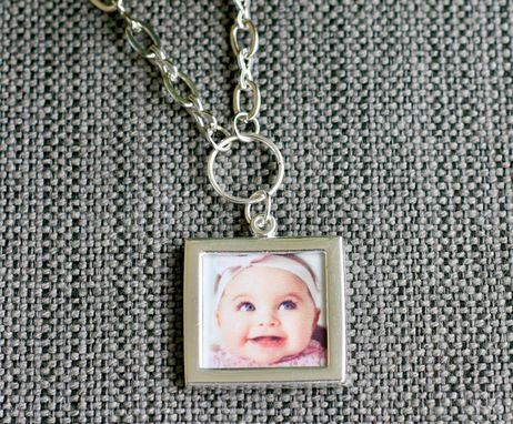 Custom Made Photo Necklace ~ Holds 2 Photos