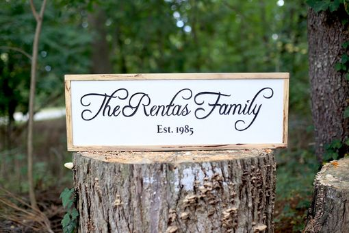 Custom Made Family Established Rustic Sign
