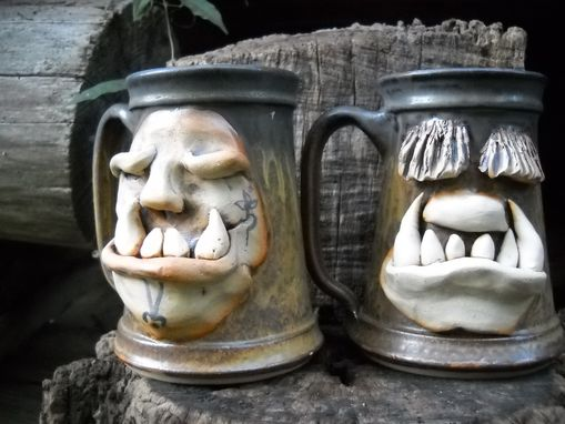 Custom Made Creature Face Steins
