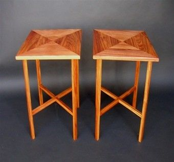 Custom Made Canary Wood End Tables