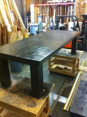 Custom Made Reclaimed Rustic Distressed Dinning Table.