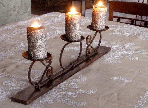 Custom Made Wrought Iron Candle Holder
