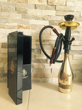 Custom Made Armand De Brignac Brut 750ml Bottle Hookah Single Hose Al Moonla Kit