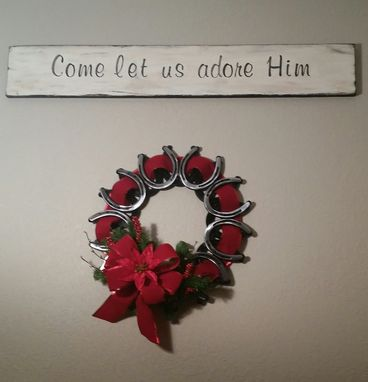 Custom Made Horseshoe Wreath