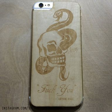 Custom Made Iphone 6 - Iphone 6plus Or  Iphone5s Custom Oak Or Maple Phone Skin