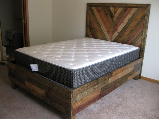 Custom Made Rustic Bed Frame And Headboard