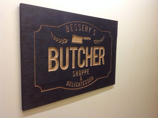 Custom Made Charred Oak Sign For Your Business