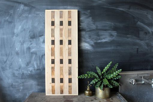 Custom Made Reclaimed Wood Geometric Wall Panel