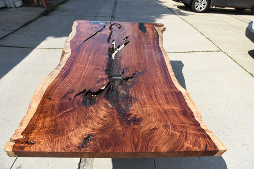 Custom Made Indian Rosewood Single Slab Dining Table