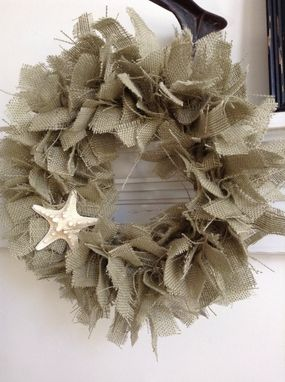 Custom Made 16in Burlap Rag Beach Wreath