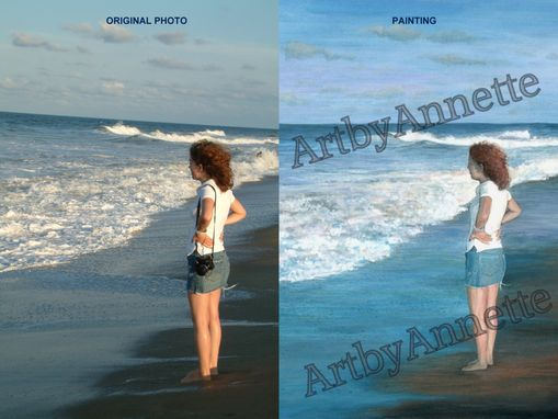 Custom Made Canvas Painting/Portrait From Your Photo - Various Sizes