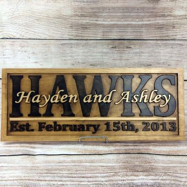 Custom Made Wedding Name Sign Wedding Gift Wedding Decor Anniversary Gift Established Sign Family Name Sign