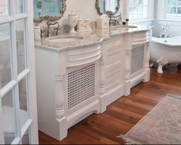 Hand Crafted Raleigh White Bathroom Vanity by Cadolino ...
