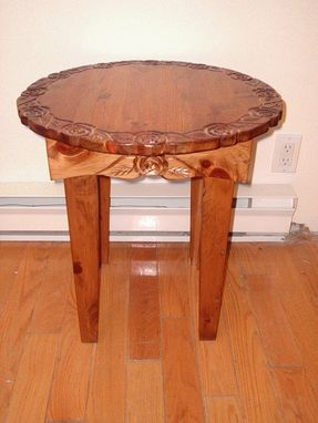 Custom Made Pine Table, Round End Table, Coffee Table