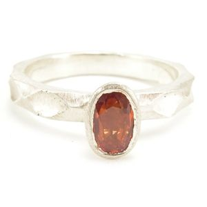 Custom Made Custom™ Collection Orange Oval Sapphire Stackable