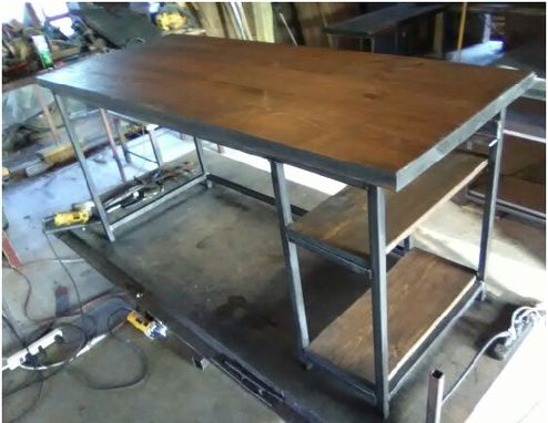 Custom Made Conference Table, Industrial, Rustic