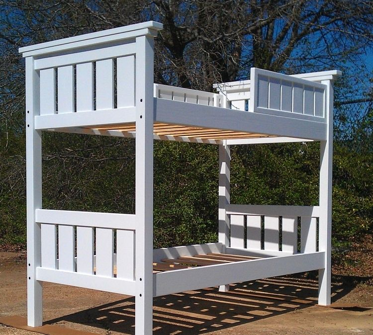 Handmade Modified Twin Xl Over Twin Xl Bunk Bed Painted