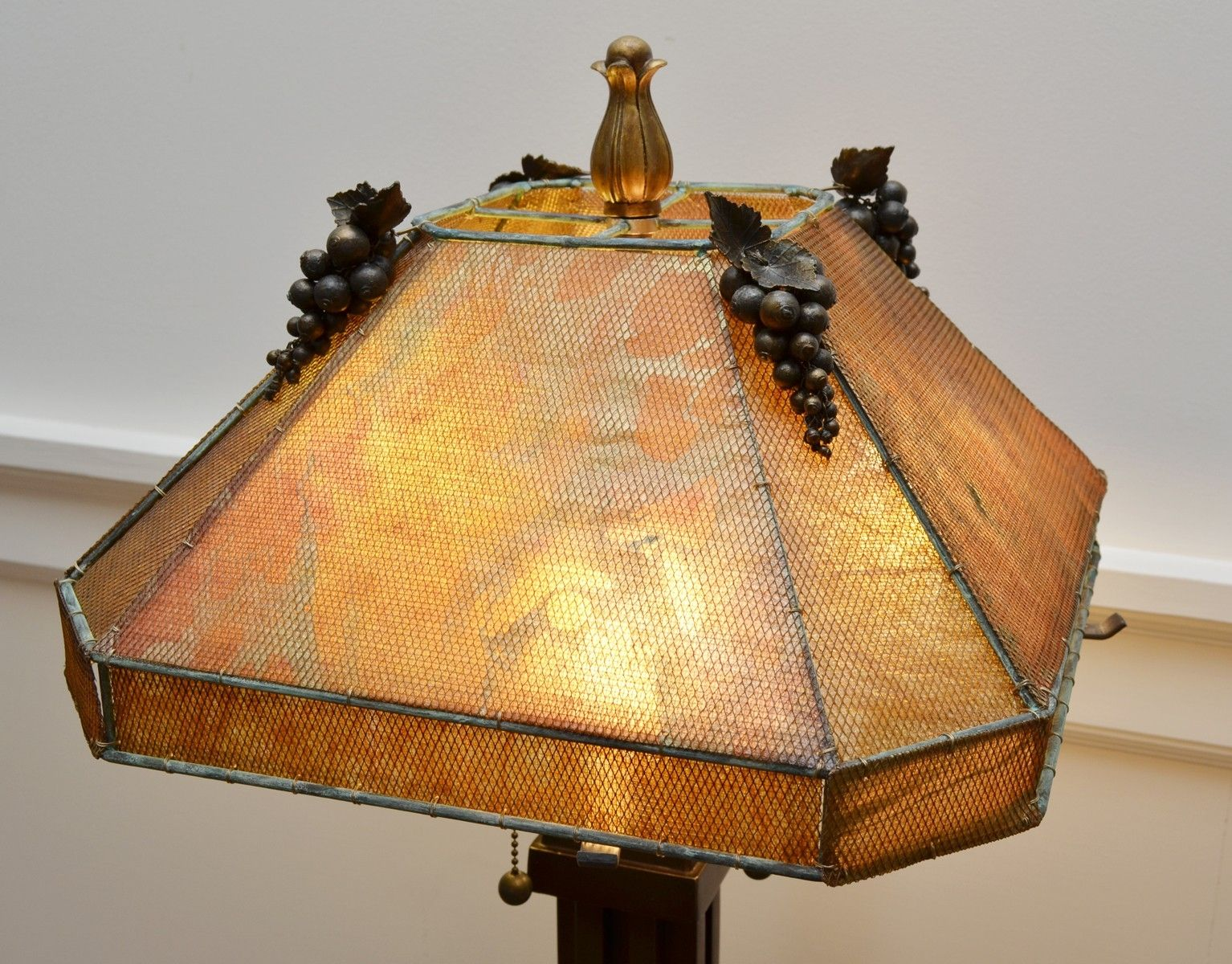 hand crafted metal mesh lamp shade by templemouse lampworks. Black Bedroom Furniture Sets. Home Design Ideas