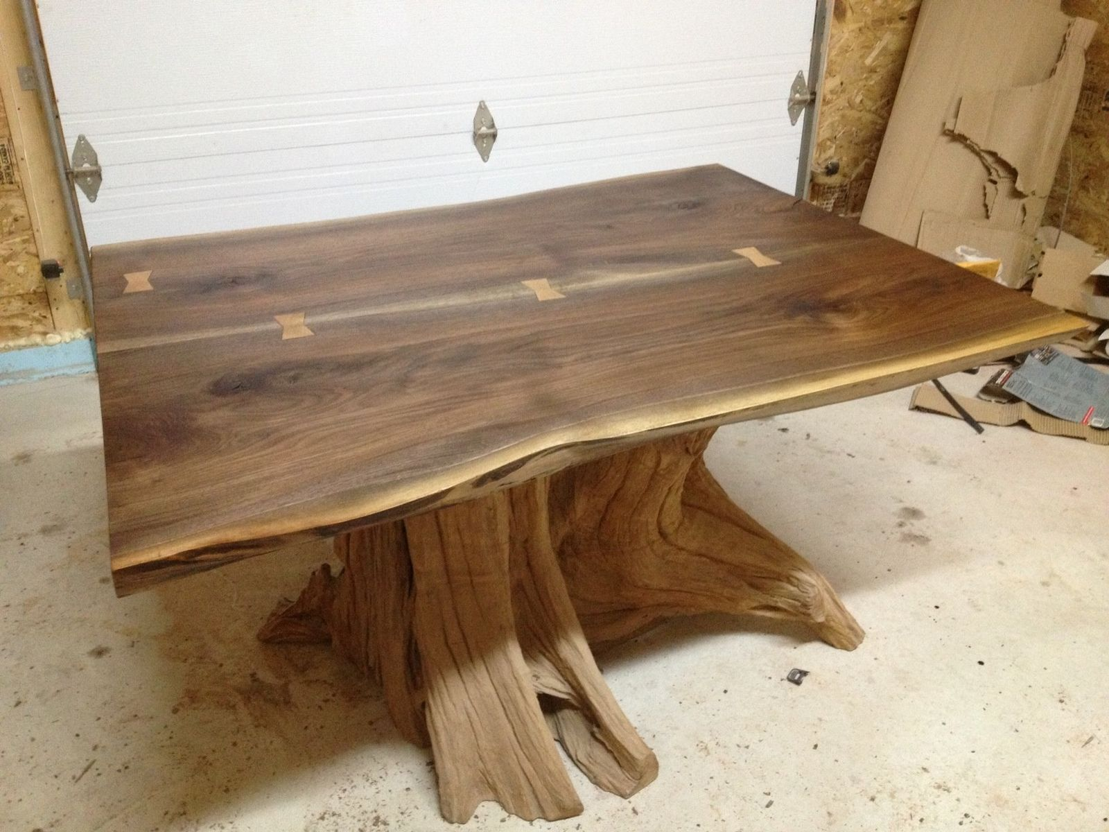 Hand Made Live Edge Black Walnut Dining Room Table by Bois & Design ...