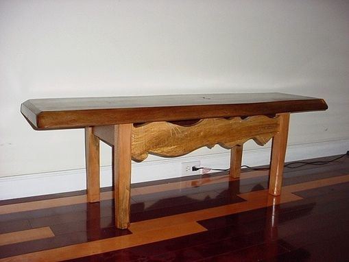 Custom Made Walnut Slab Bench/Table