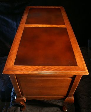 Custom Made Leather Top Writing Desk